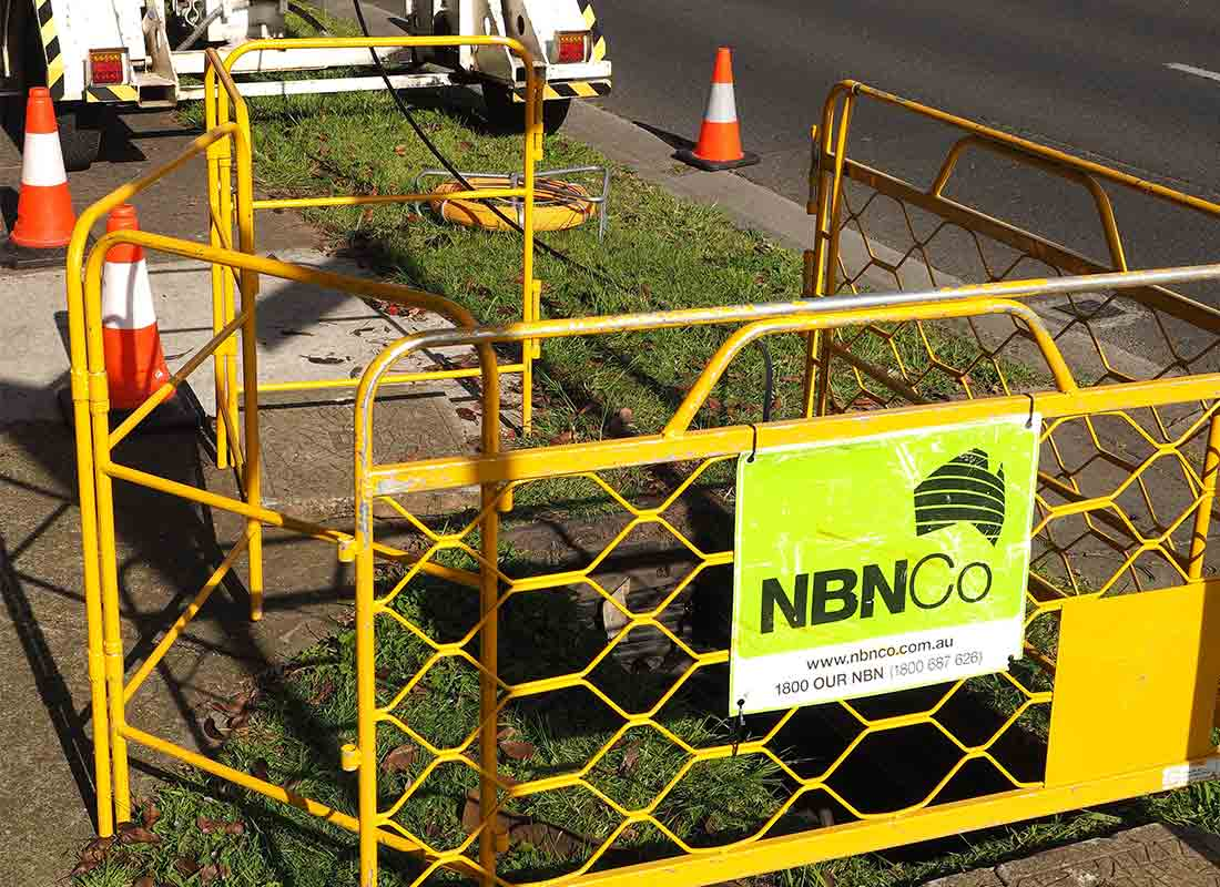 A new nbn connection being supplied to a local street, ready to connect the community