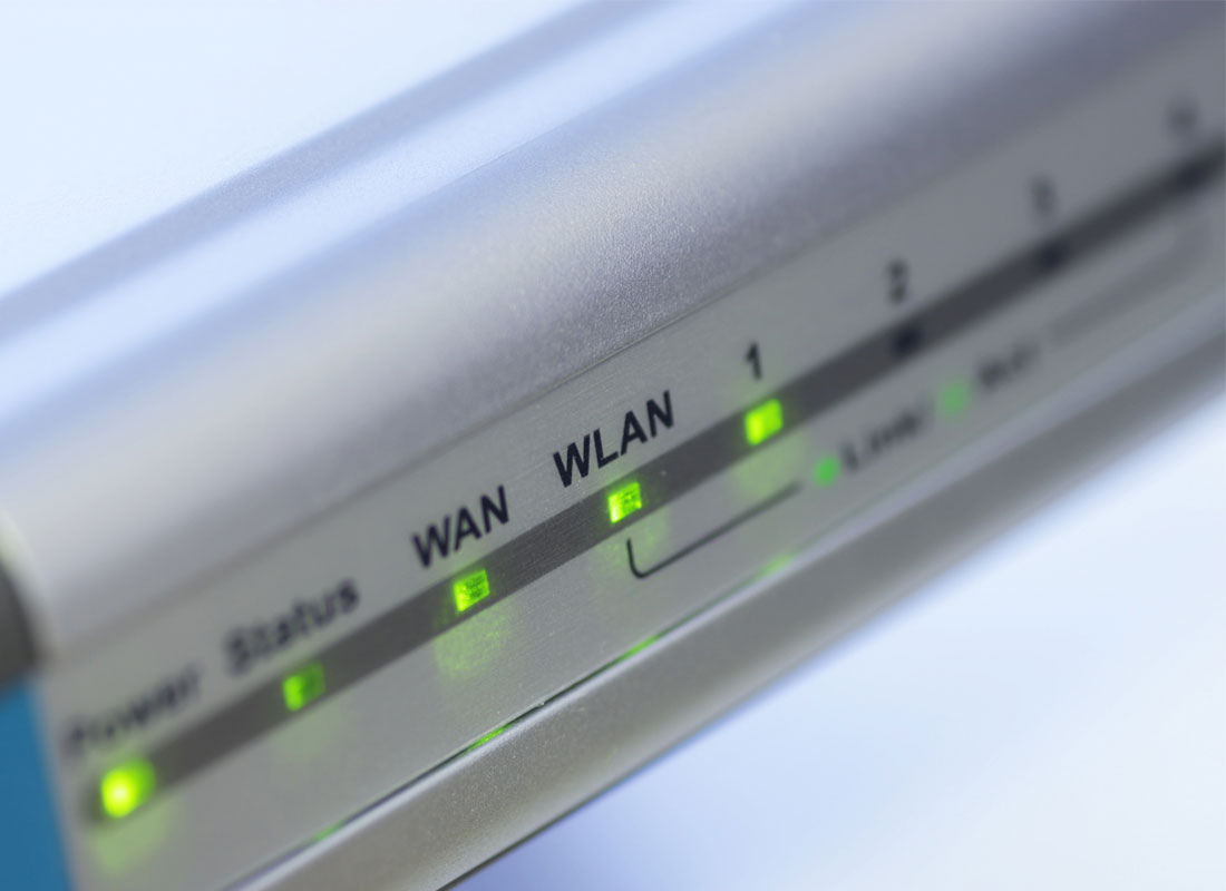 A happy router with all lights showing green indicating everything is well with its world