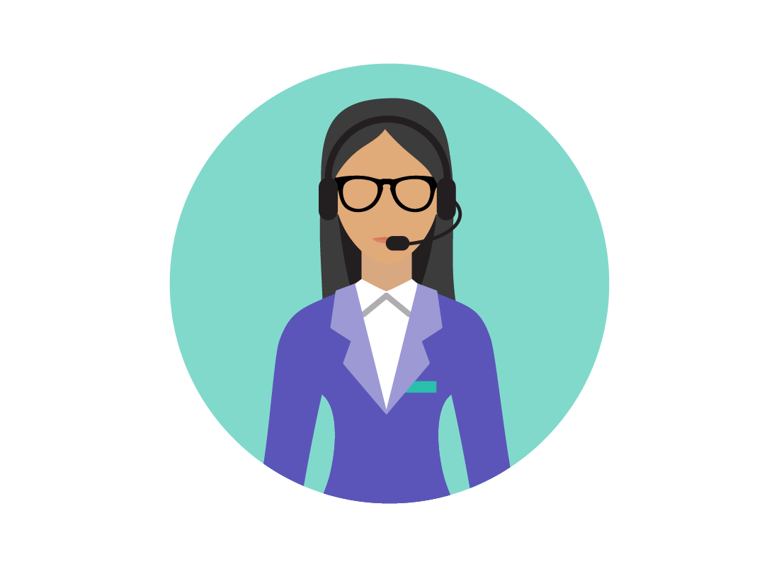 An illustration of an internet service provider help desk person ready to answer you questions.