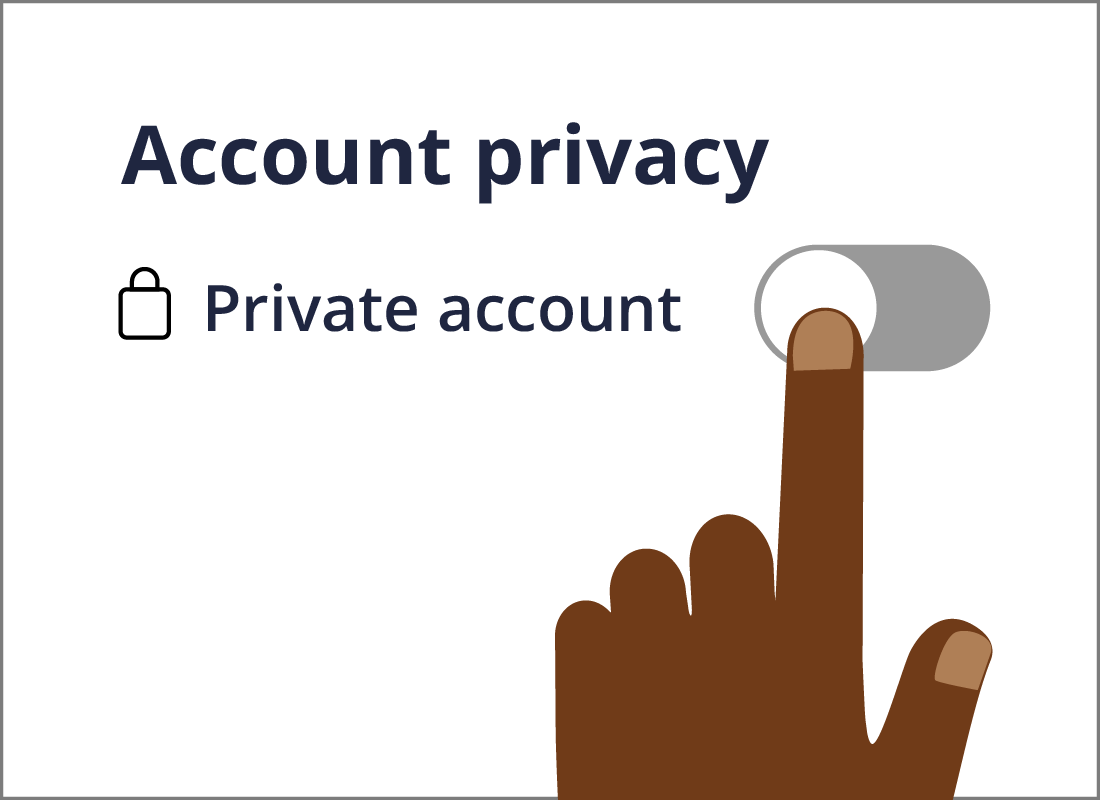The Private account switch.
