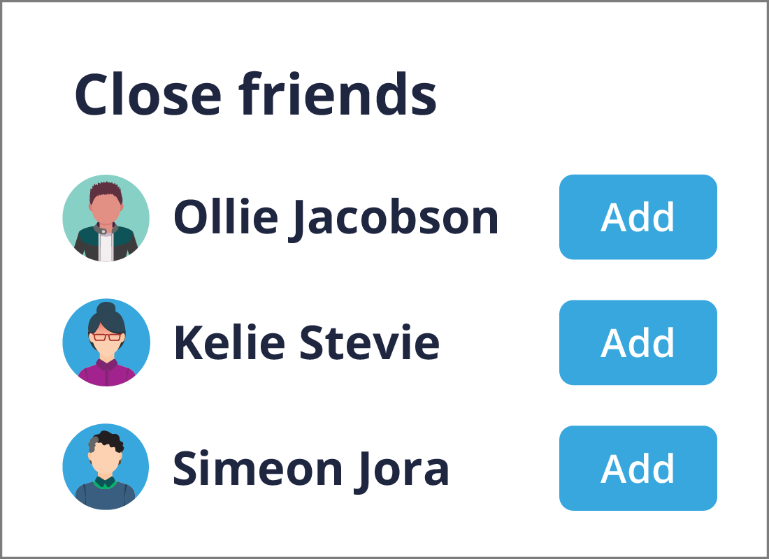 Adding to your close friends group