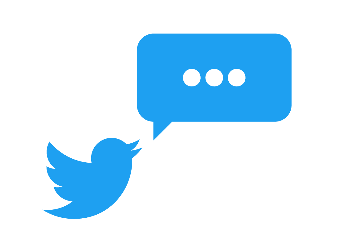 The Twitter logo and a speech bubble