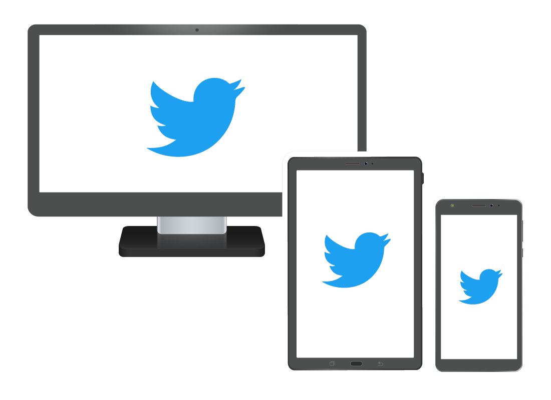 Twitter on a range of devices