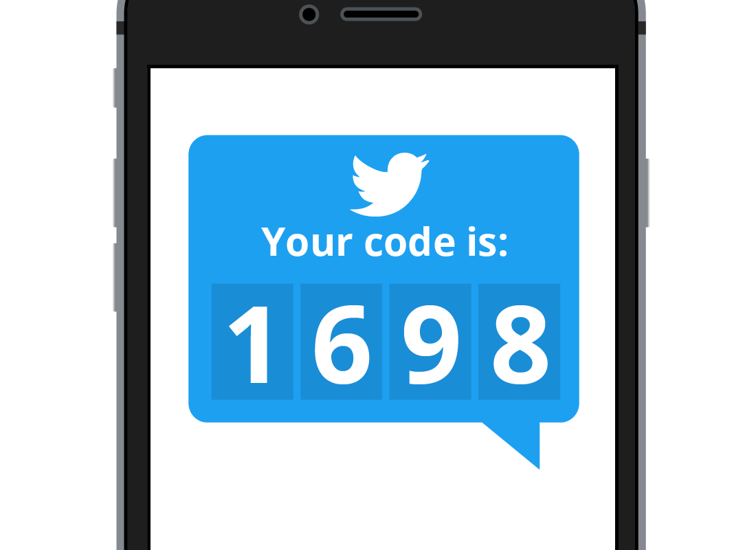 Twitter sends a secire code as a part of the sign up process