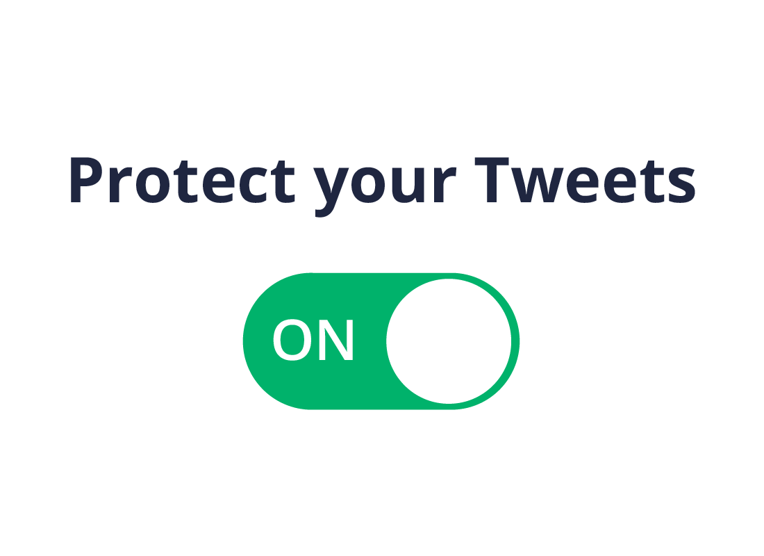 The Protect your tweets option set to On