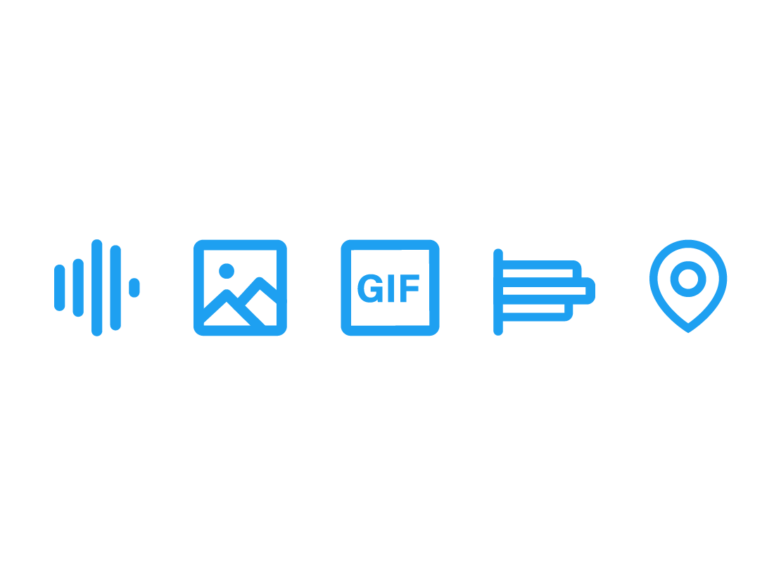 Icons refelcting a range of content types