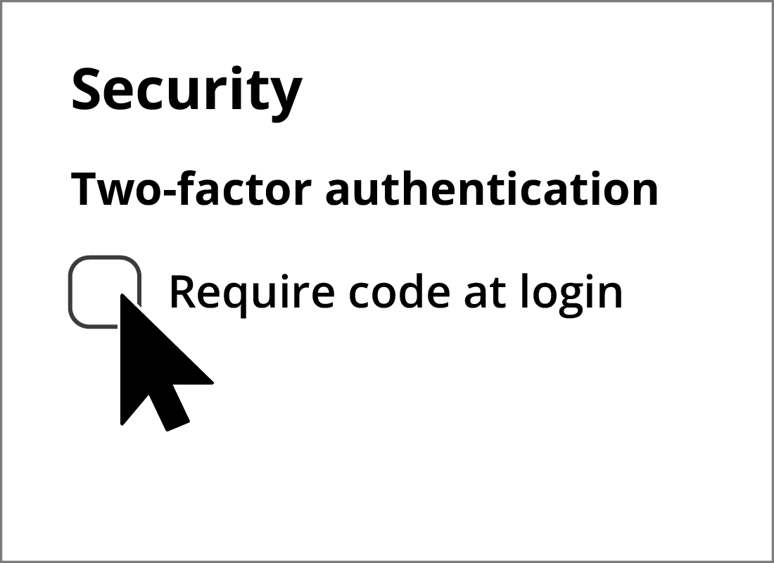 Opting to turn On two-factor authntication