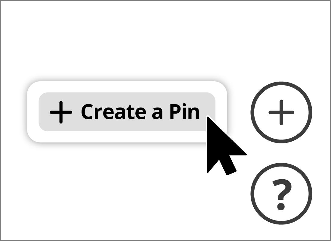 The create a pin icon