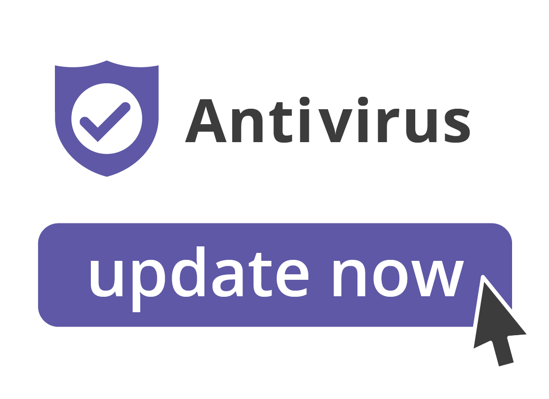Antivirus software with an update now icon