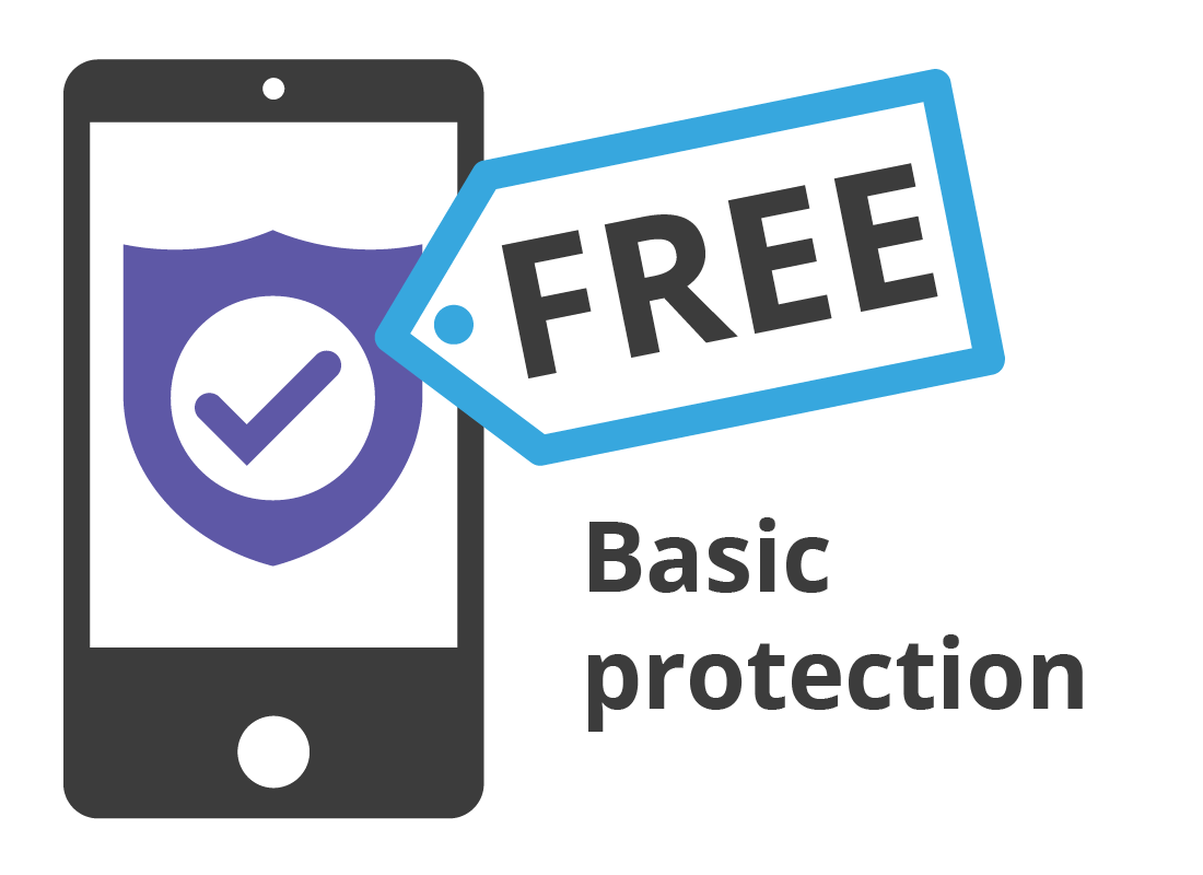 A mobile device with free antivirus prtection built in