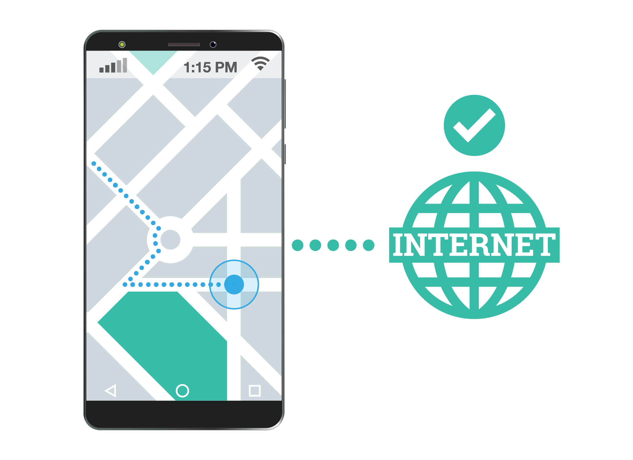 A map app is a type of app that needs to be connected to the internet in order to be accurate