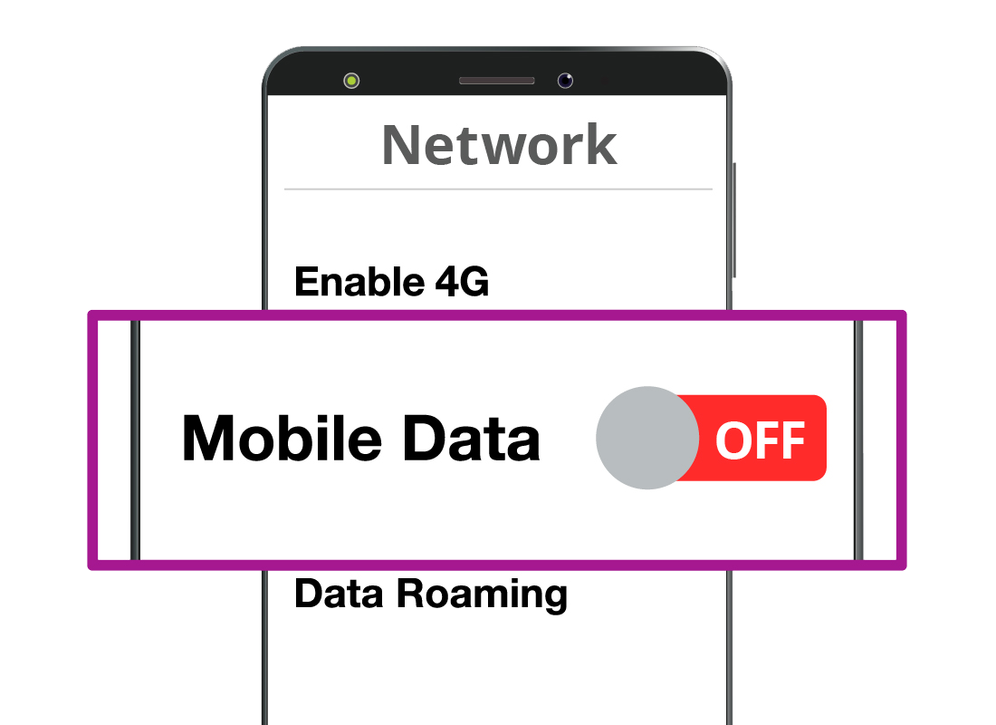Switching off 'Mobile data' in your phone's Settings menu will stop apps from using up all of your expensive mobile data allowance without you realising it
