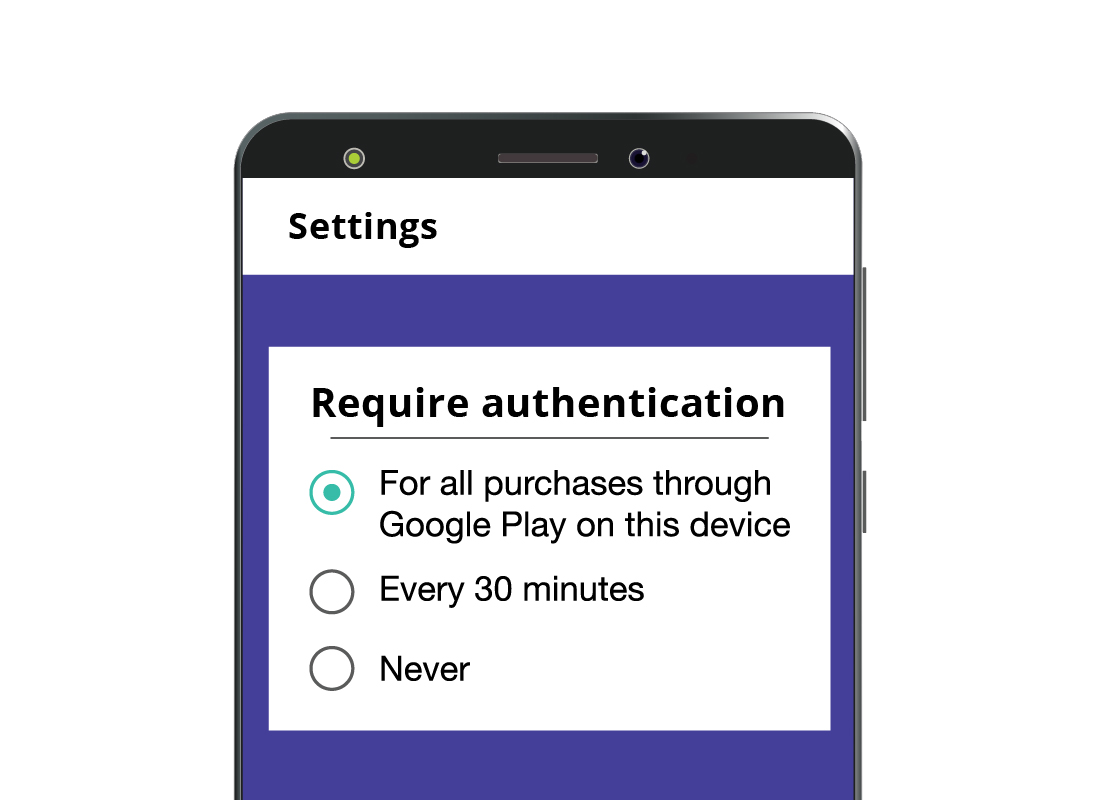 For Android users, a PIN is required every time an in-app purchase is requested