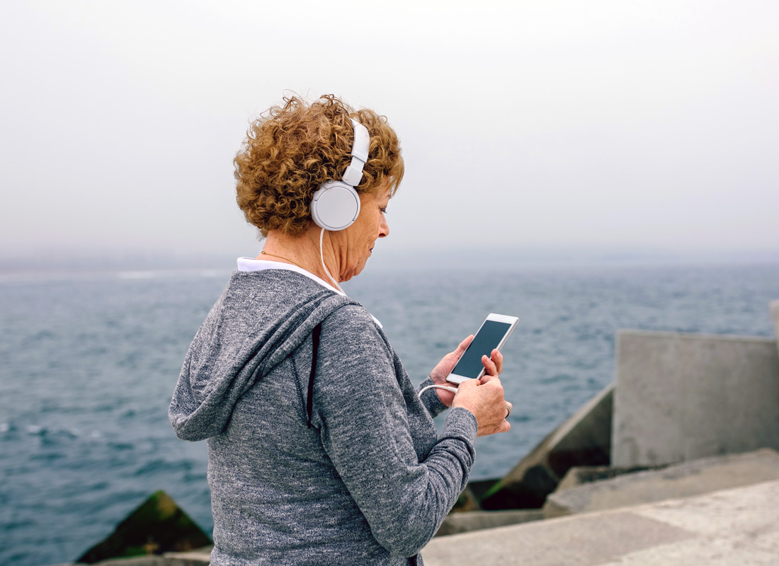 Using a music app to keep up the pace while exercising