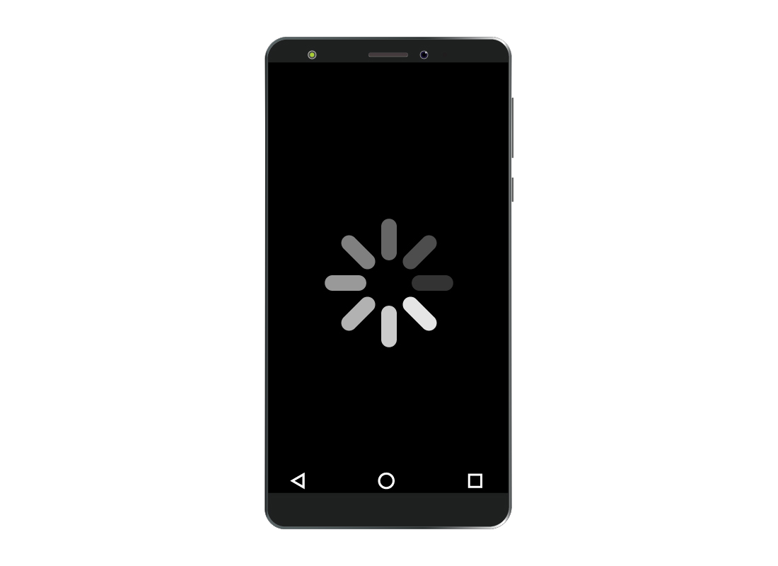 A smartphone indicating an app has frozen or is struggling to work properly