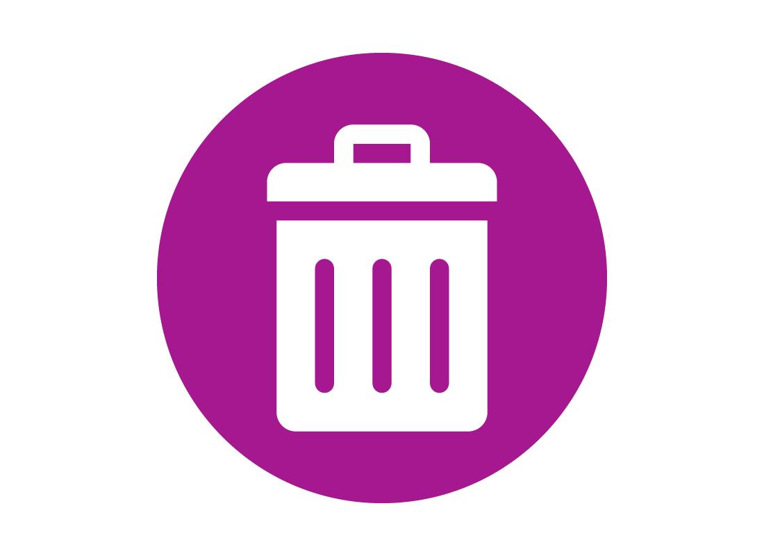 An icon of a rubbish bin