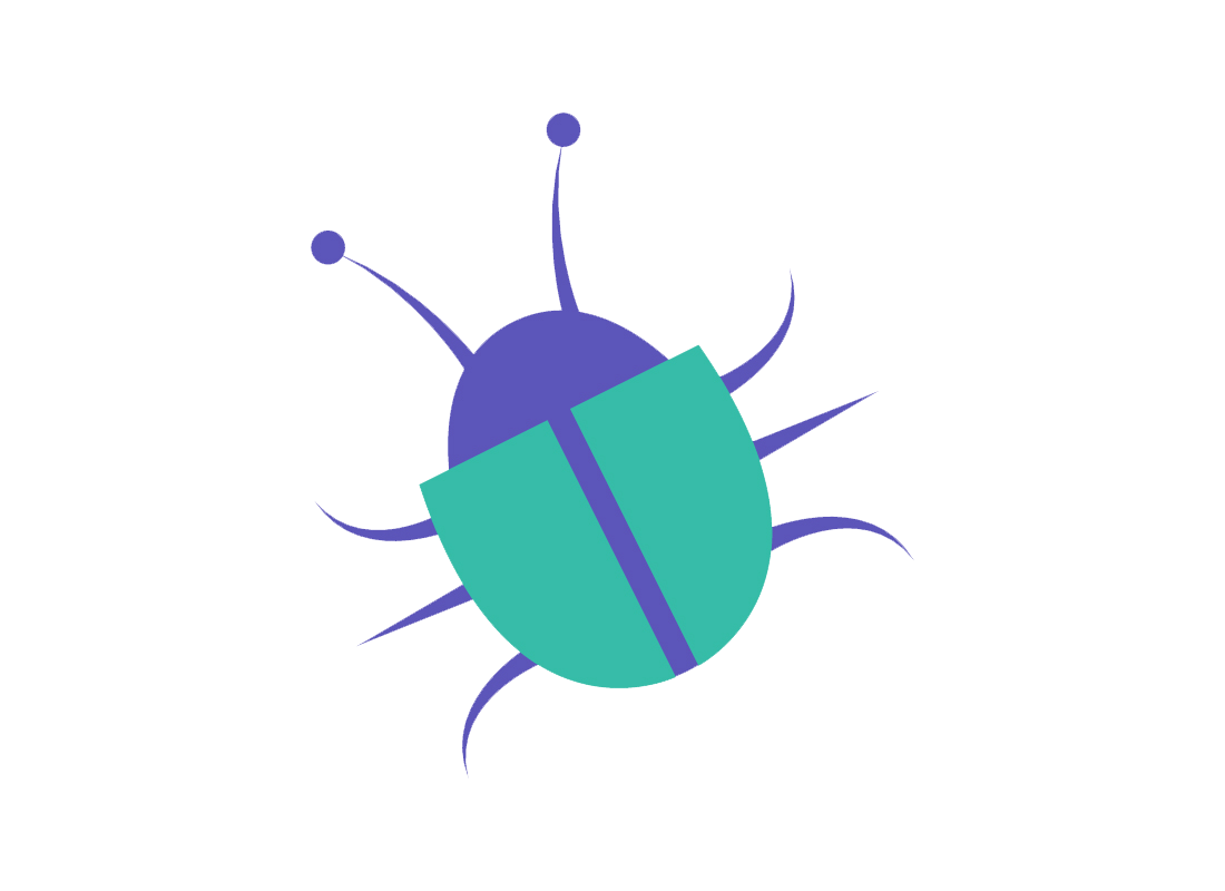 An illustration of a beetle-type insect - commonly known as a bug