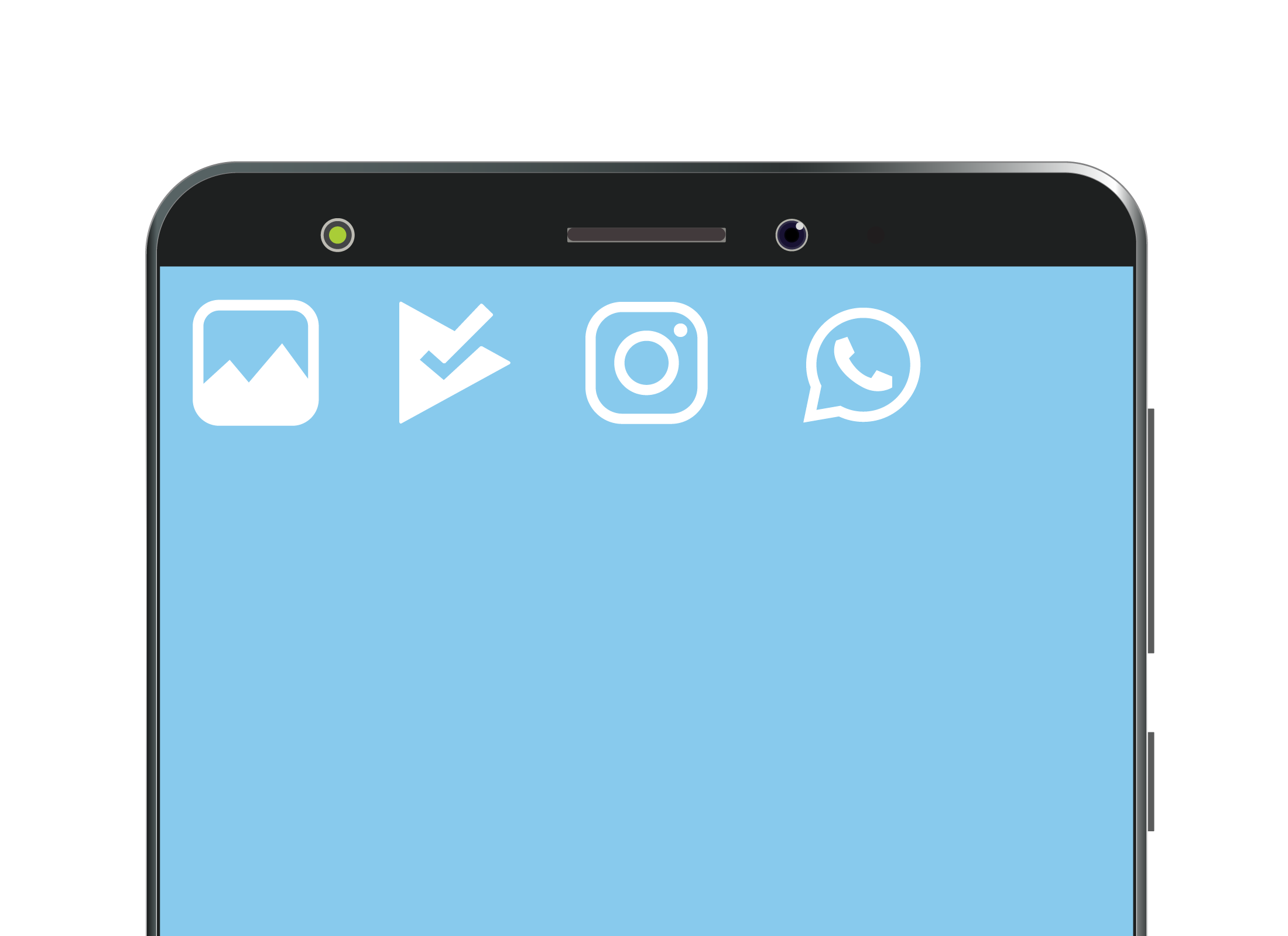 Some typical icons on a smartphone screen