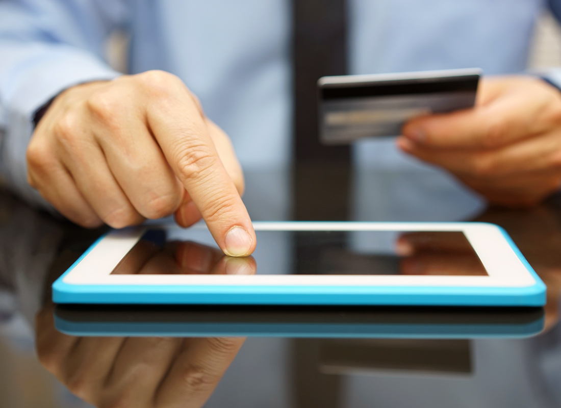 Making an app purchase using a tablet device