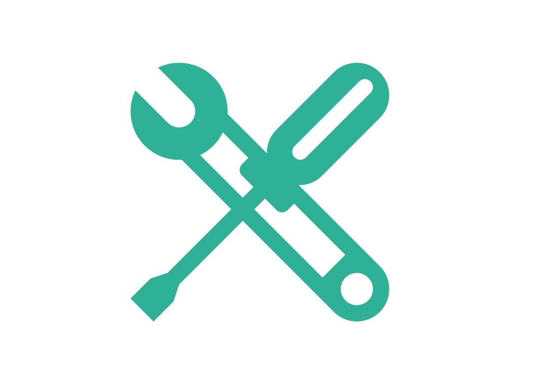 An icon of a spanner and screwdriver - indicating a toolkit