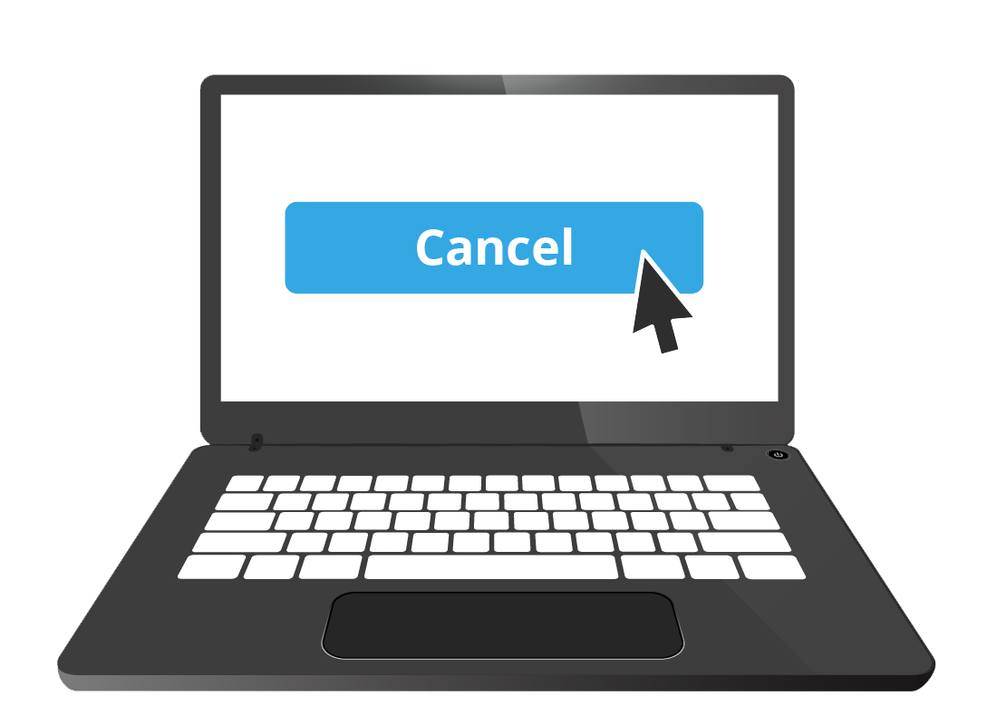 An illustration of the option to cancel a service on a website