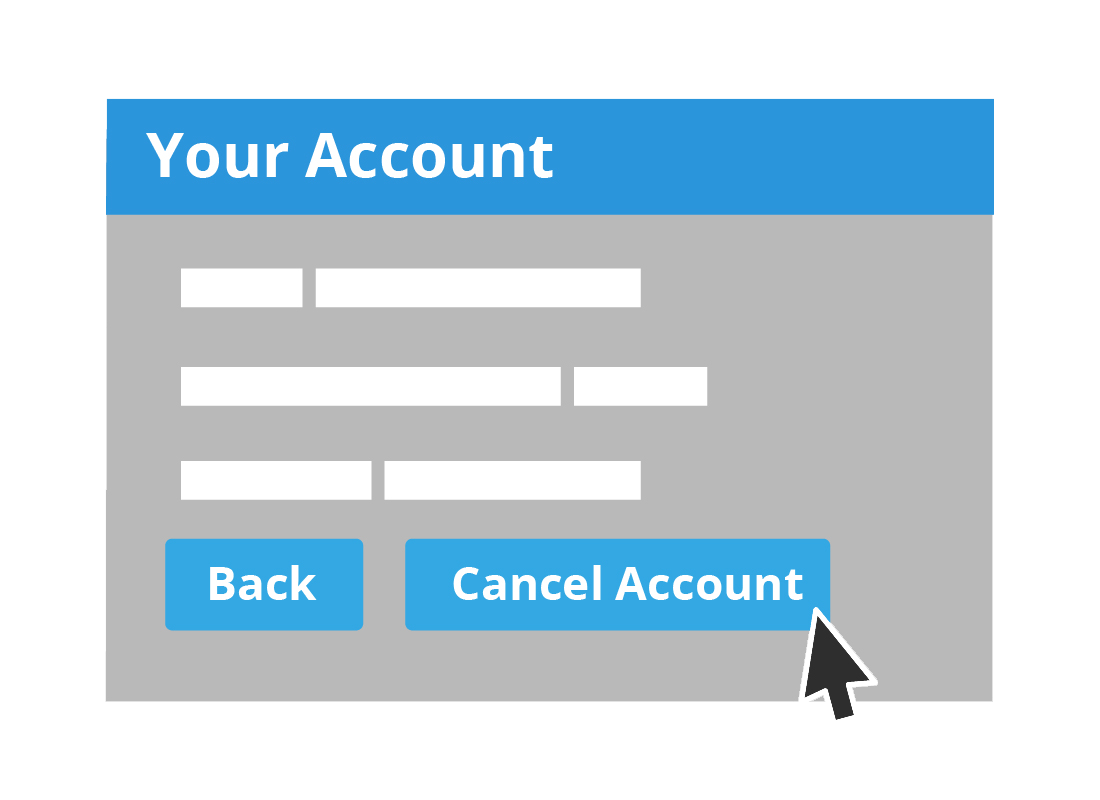 An illustration of account settings in a typical online family tree website
