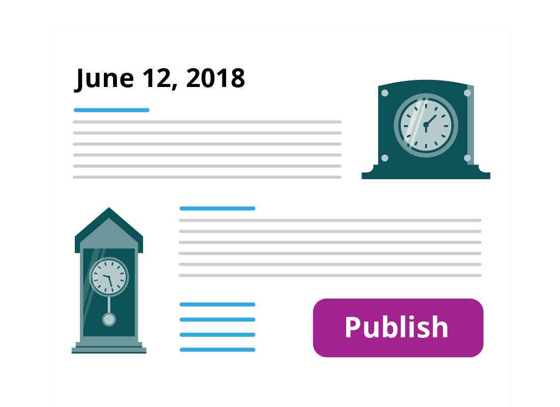 A blog about clocks ready to hit publish