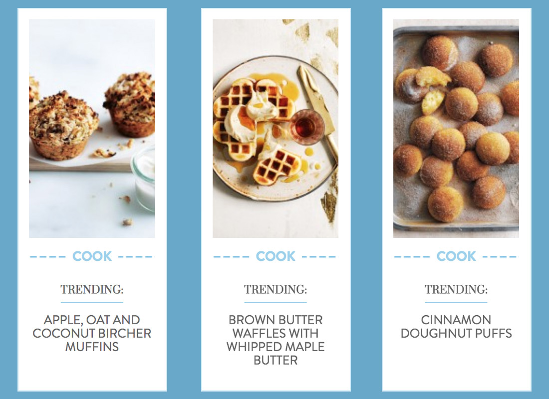 An example of a cookery blog