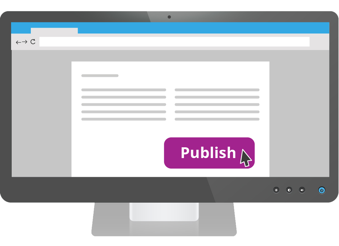 Once you have entered your blog text, you need to click on the publish button so that it becomes available for people to read