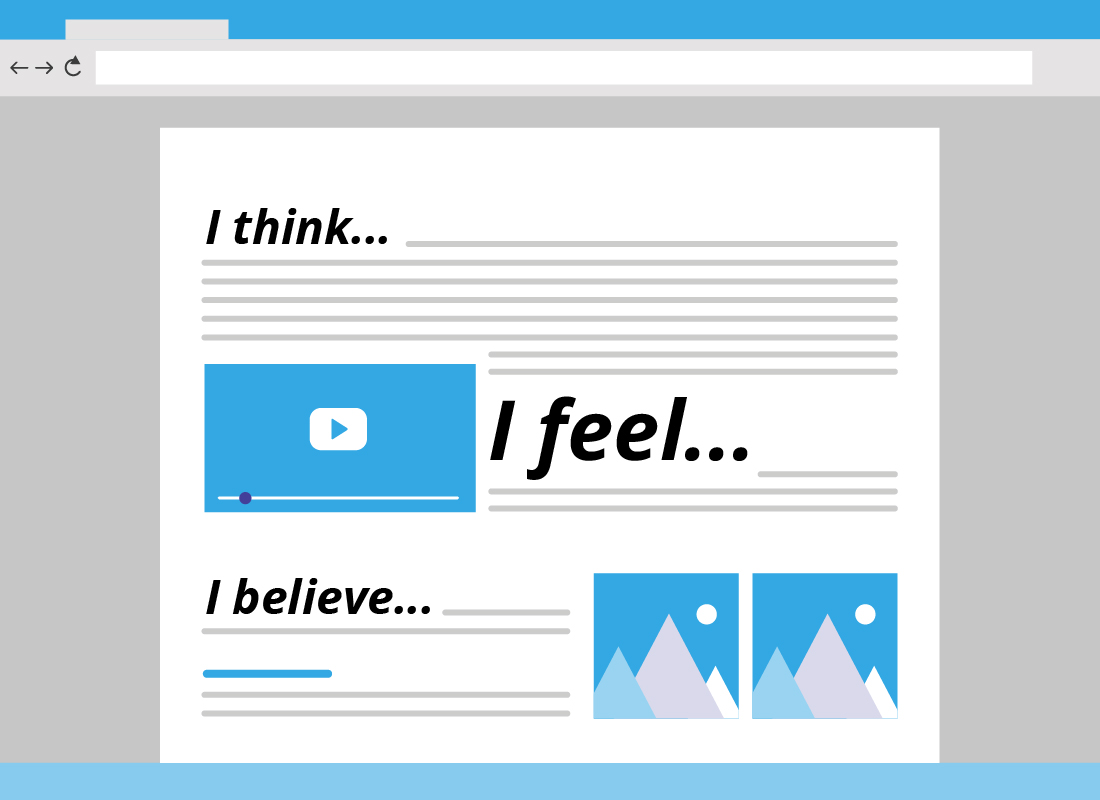 Adding your personal thoughts and feelings to a blog can make it a more interesting and engaging resource for people to learn about your interests