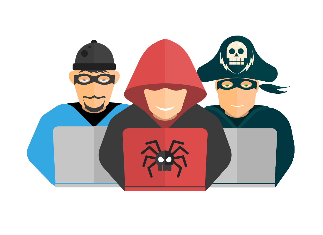 An illustration of suspicious people who look for personal identification information on blogs. Stay safe by never publishing your personal details, e.g. full name, date of birth, telephone or email address on your blogs.