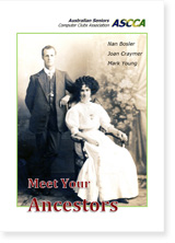 Cover of  Meet Your Ancestors eBook depicting vintage family photo