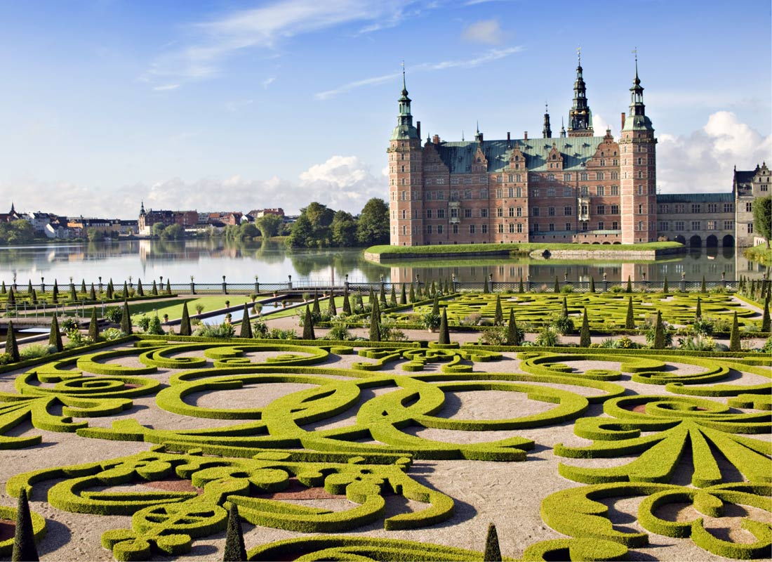 Chateau Castle, Denmark and the spectacular formal gardens