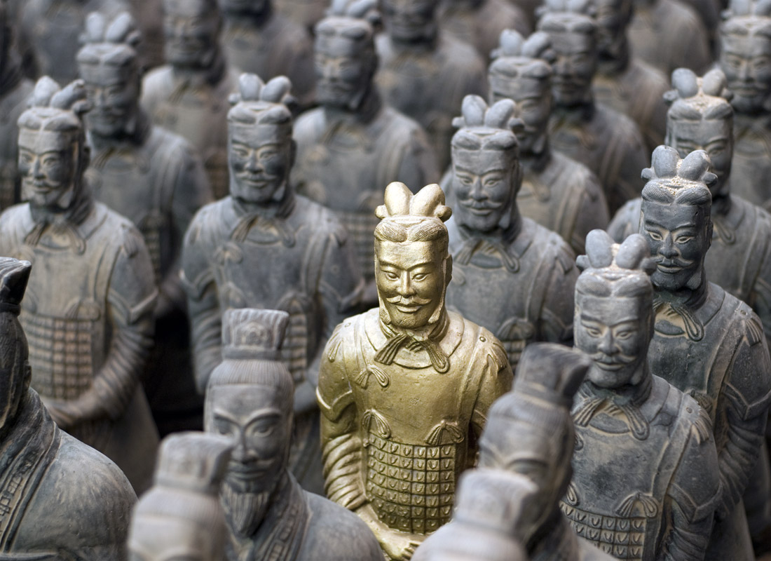 A picture of China's Entombed Terracotta Warriors