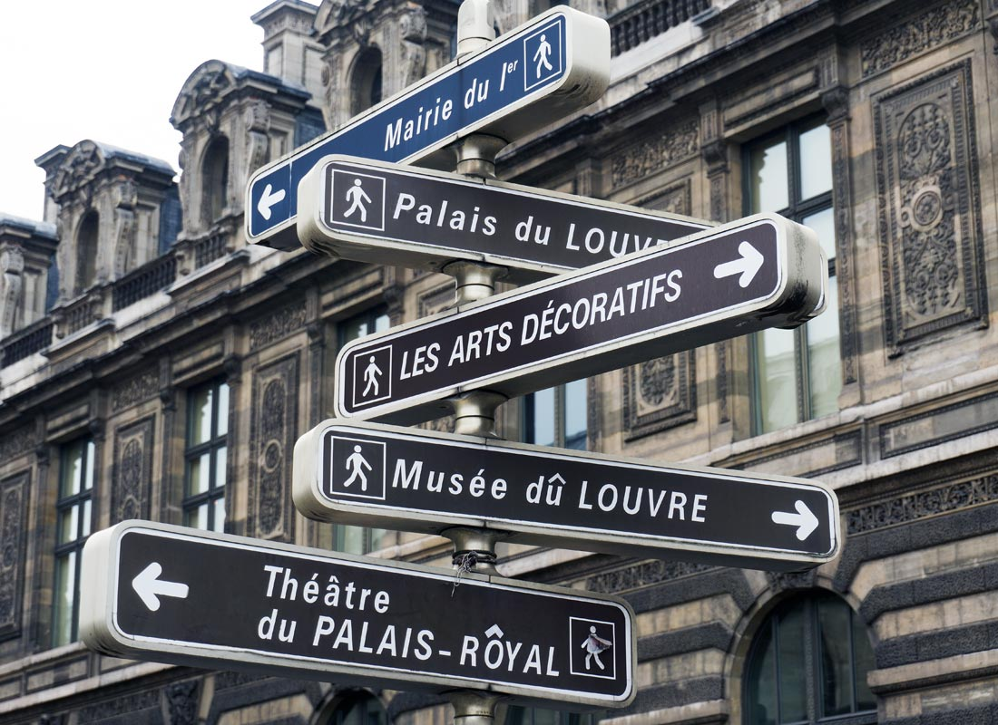 Street directions, Paris-style