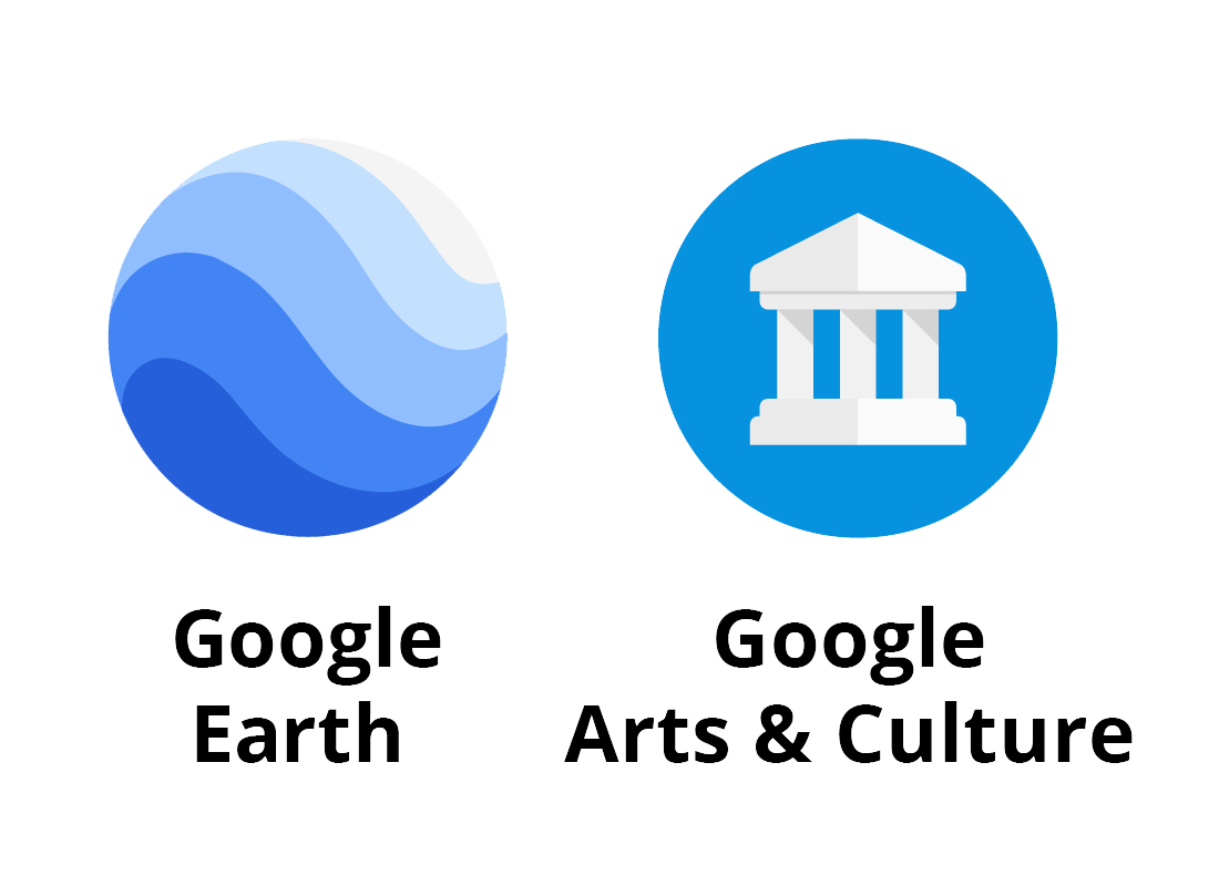 Icons for Google Earth and Google Arts & Culture