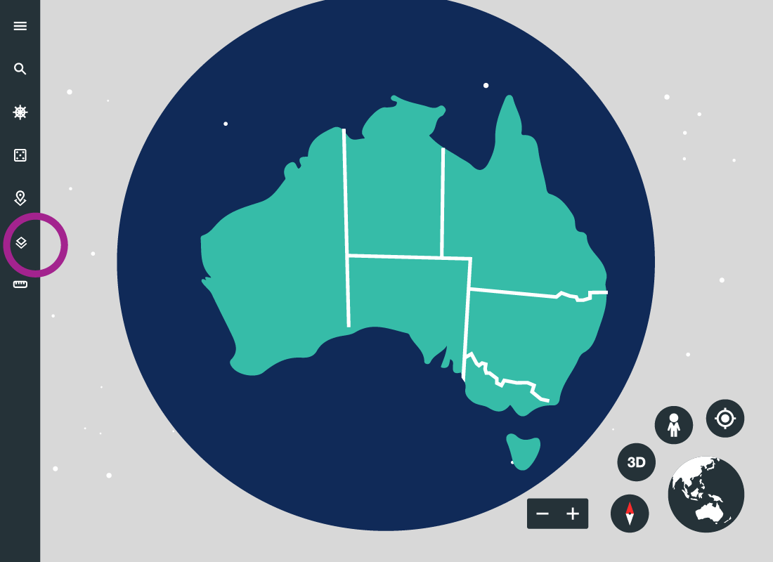 An illustration of a map of Australia showing some of the state borders
