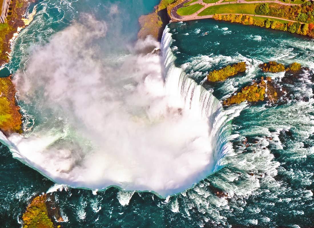 A high level view of Niagara Falls